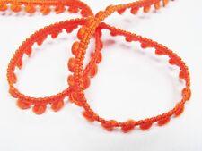 (2.30 EUR/Meter) *MINI* Bommel - Pompom Borte orange