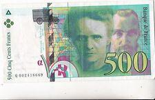 BILLET 500  FRANCS PIERRE ET MARIE CURIE 1994  669