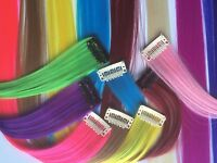 """Women Lot 18"""" Clip In Synthetic Hair Extensions Hairpiece Straight 7g More color"""