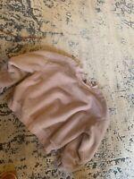 Wild Fable Women's/Junior's Fuzzy Crop Mock Neck Sweater Size XL Pink Seeatahjrt