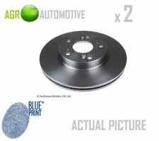 2 x BLUE PRINT FRONT BRAKE DISCS SET BRAKING DISCS PAIR OE REPLACEMENT ADH24383