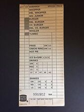 "1983 Burger King, ""Un-Used"" Menu Slip (Yumbo / Whaler)"