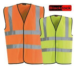 Blackrock Safety High Visibility Hi Vis Viz Vest Yellow Orange Waistcoat - EN471