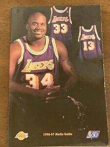 1996-97 Los Angeles Lakers Media Guide Kobe Bryant Rookie Year Shaquille O'Neal