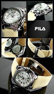 FILA Watch Stainless Steel Designer Pink Zirconia Rochenband 38mm Feminin FA0601