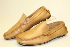 Metropoltian View 1900 Mens 9 Casual Beige Slip On Loafers Hand Made in Italy