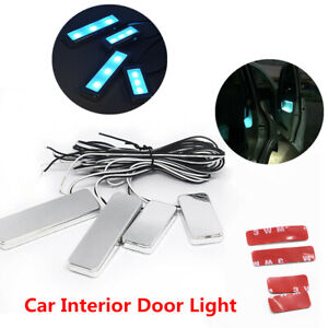 Car Door Bowl Handle 3LED Ambient Atmosphere Light Interior Decorative Lamp Blue