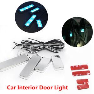 Car Door Bowl Handle 3LED Ambient Atmosphere Light Interior Decorative Lamp Blue