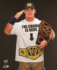 "JOHN CENA WWE PHOTO WITH BELT 8x10"" OFFICIAL WRESTLING PROMO"