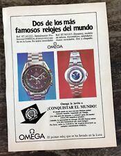 Omega vintage années 1960 brochure page Speedmaster Professional ST 145.022 dynamique