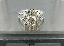 Natürliche gut geschliffene Ringe aus Weißgold mit Diamanten