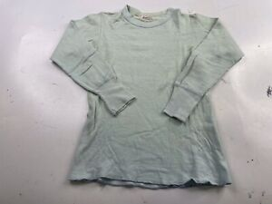 Vintage Duofold Wool Blend Two Layer Thermal Crew Neck Shirt Size 10 Made USA