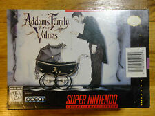 Addams Family Values w/VHS Tape - Super Nintendo SNES Very Rare BRAND NEW Sealed