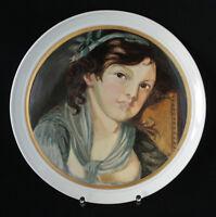 Großer Teller mit handgemaltem Porzellanbild unterglasur, handgemalt, kein Druck