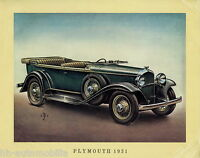 Poster Oldtimer Plymouth 1931 37,5x30,5 cm Oldtimerposter Autoposter vintage car