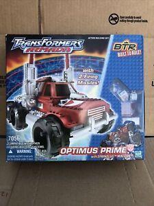 2003 Transformers Armada BTR OPTIMUS PRIME 7056 with SPARKPLUG Minicon