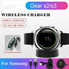 Wireless Charging Dock Charger & Tempered Glass Screen For Samsung Gear S2 S3 US