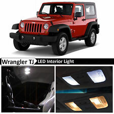 7x White Interior LED Lights Package Kit for 2000-2006 Jeep Wrangler TJ
