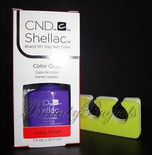 CND Shellac Video Violet UV/LED Gel Polish .25oz New With Box +bonus