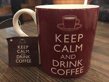 Keep Calm And Drink Coffee Brown Coffee Mug Tea Cup 12oz Home Essentials New