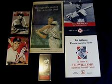 TED WILLIAMS COMMEMORATIVE FOLDERS, GLOBE PULLOUT, SI & LEGENDS SPORTS MAG. PLUS