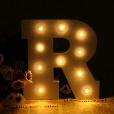 R Style Wood LED Marquee Letter Alphabet Symbol Sign Vintage Circus Lights White
