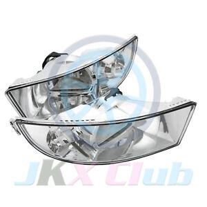 Pair  Fog Light Fog Lamp 2 Hole For Skoda Octavia A6 MK2 2009 10 11 12 2013