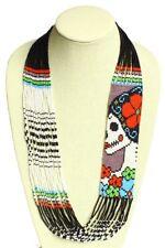 Dead Necklace Skull Jewelry Mexico Ne606-213 Handmade Crystal Glass Katrina Day