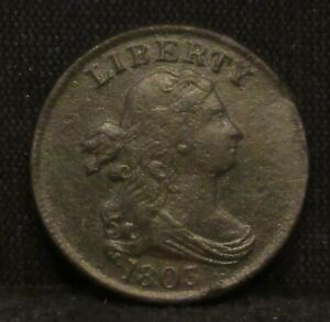 1803 Draped Bust Half Cent XF DETAILS