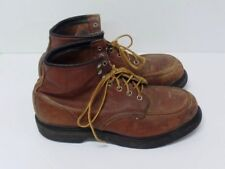 RED WING MEN'S BOOTS - SIZE 10 D - HERITAGE CLASSIC MOC STEEL TOE OIL RESISTANT