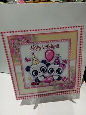 Handmade glittered Birthday Card Topper