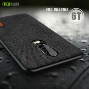 Oneplus 6T Case Cover One Plus 6T Back Fabric Case Soft Silicone Edge Hard New