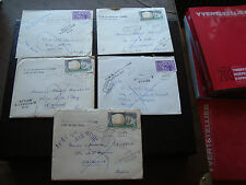 FRANCE - 4 lettres 1 enveloppe 1962/1963 (cy41) french