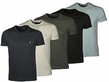 Mens French Connection Slim Fit Tshirts Fcuk Designer Plain Logo Tees All Sizes