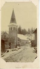France, Arbent, vue sur l'église  Vintage citrate print Tirage citrate