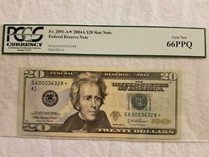 2004 A $20 DOLLAR Star NOTE PCGS 66 Gem New