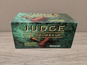 Judge For Yourself The Game of Real Life Courtroom Dramas Pressman Adults Team