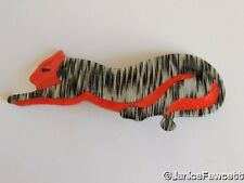 Lea Stein - Panther Brooch - NEW