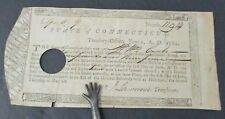 1782 Promissory Note, Connecticut Line Continental Army, American Revolution