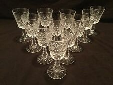 SET 11 WATERFORD CLARET WINE GLASSES IN THE KENMARE PATTERN