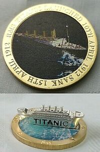 Titanic 3D Silver Ship Gold Coin Boat Launch 1912 Sea Disaster Film World Famous