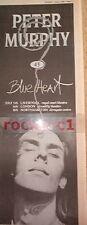 More details for peter murphy (bauhaus) blue heart 1986 uk poster size press advert 16x6