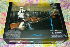 Star Wars The Black Series Scout Trooper 6-Inch Action Figure with Speeder Bike