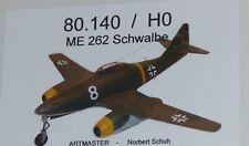 Artmaster 80.140 ME 262 Schwalbe Flugzeug H0 1:87  Bausatz unbemalt Resin