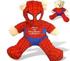 Personalised Teddy Spider Bear Pageboy, Ring Bearer, Usher, Groom Wedding Gift