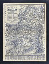 1925 Clason Auto Touring Road Map New York - NY City Buffalo Niagara Albany NYC