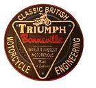 Triumph Bonneville Motorcycle Plaque Solid Cast Iron.