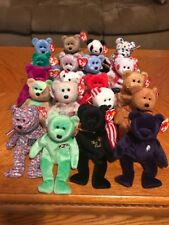 Beanie Baby Bears Lot Of 20 all with Swing Tags
