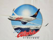 "OFFICIAL ALOHA AIRLINES ""FLY ALOHA"" CAMPAIGN T-SHIRT SIZE LARGE"