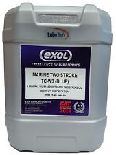 EXOL Premium Blue OUTBOARD Marine 2 Two Stroke Oil 20 L Meeting Tc-w3 Spec
